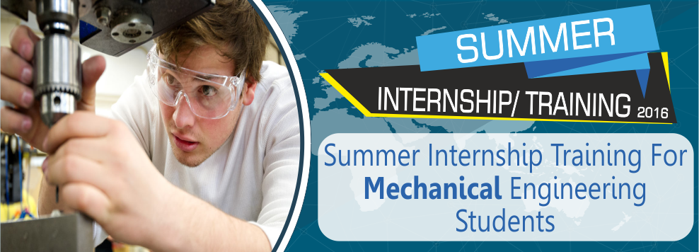 Summer Internship Training Mechanical Engineering Students Delhi ...
