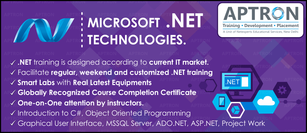 Best Project based 6 Month Industrial Training in .Net