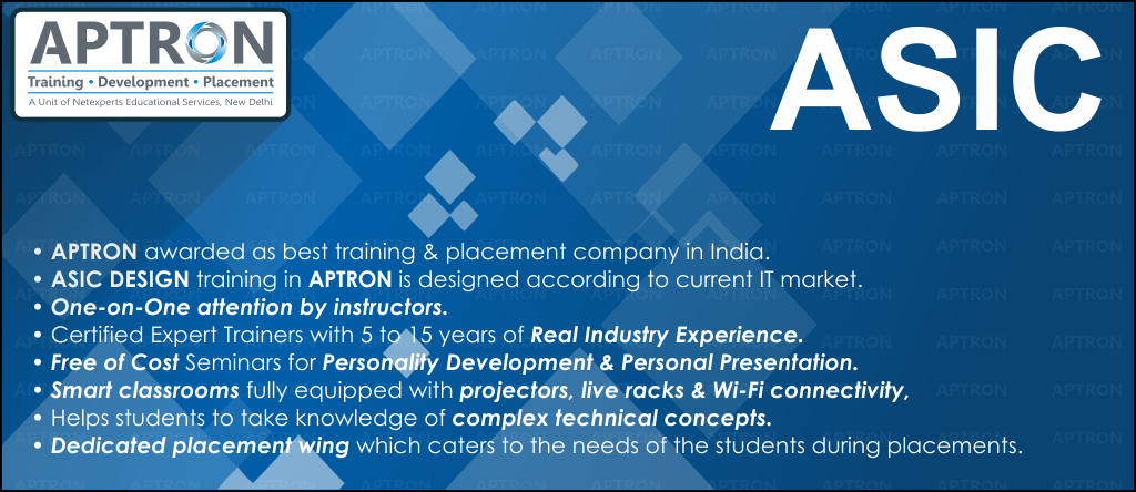 Best ASIC Design and Verification training institute in noida