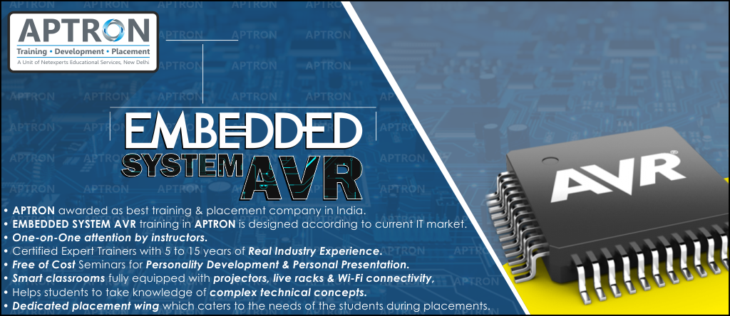 Best Embedded System AVR training institute in noida