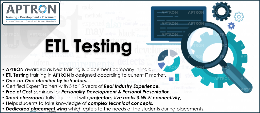 Best ETL Testing training institute in noida