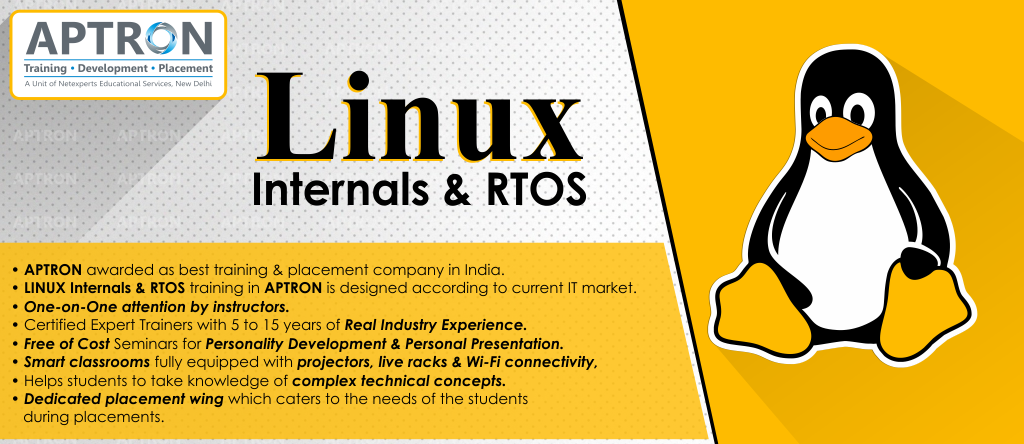 Best Linux Internals And RTOS training institute in noida