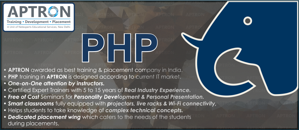 Best Project based 6 Month Industrial Training in php